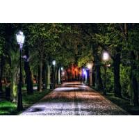 Парковые светильники большие на столбах: применение на придомовых территориях