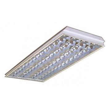 Светильник люминесцентный ЛВО 4x36 растр